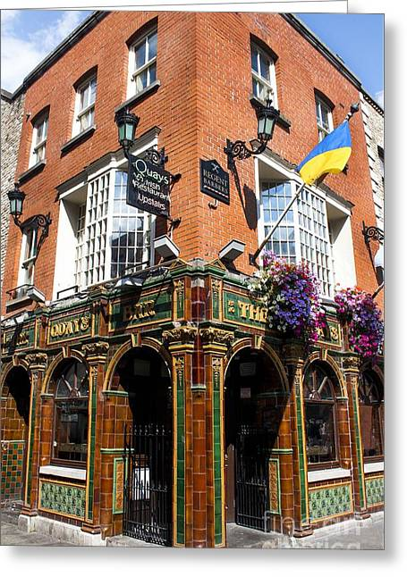 Saloons Greeting Cards - The Quays Bar - Dublin Ireland Greeting Card by Michael Braham