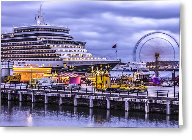 Merseyside Greeting Cards - The Queen in the dock Greeting Card by Paul Madden