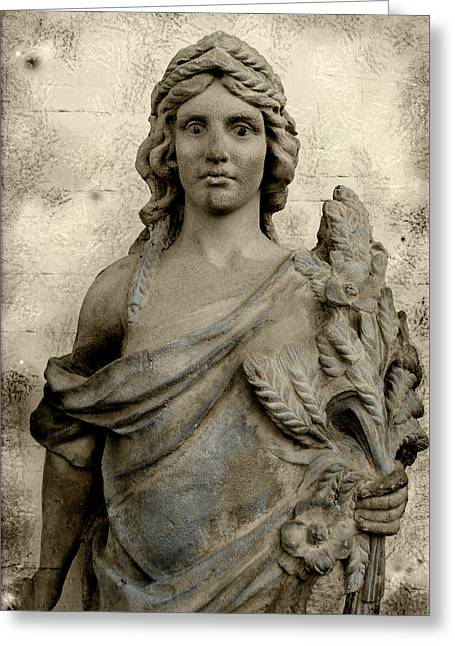 Greek Sculpture Greeting Cards - The Queen of Congress Hall Greeting Card by Colleen Kammerer