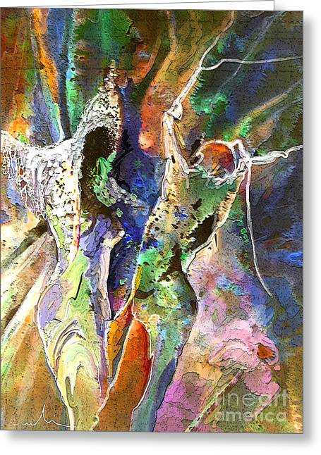 Religion Mixed Media Greeting Cards - The Queen of Sheba and King Solomon Greeting Card by Miki De Goodaboom