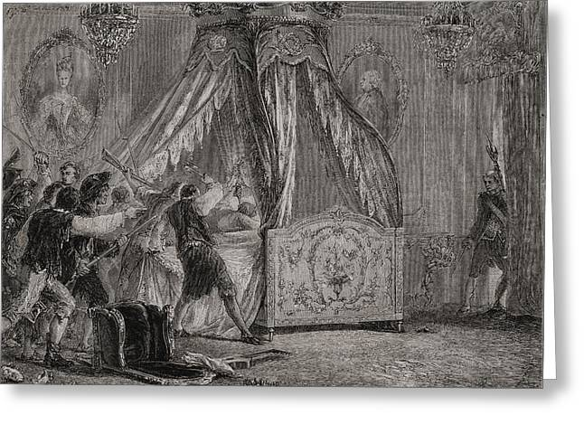 The Queen S Bedchamber Is Overrun, 5th Greeting Card by Vintage Design Pics