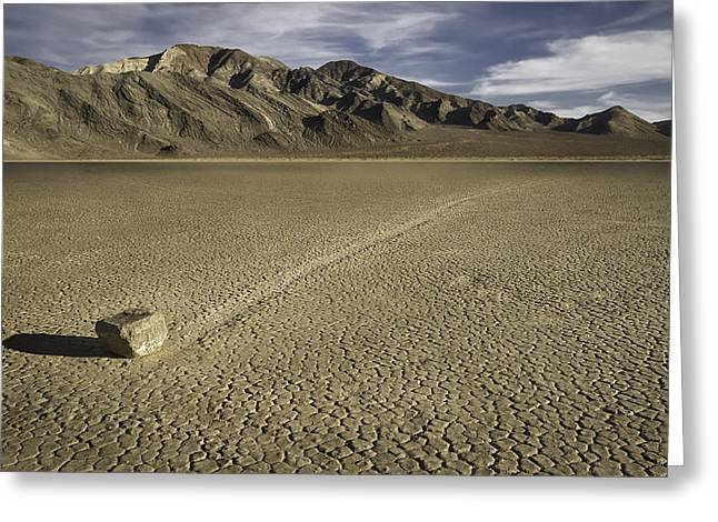 Dry Lake Digital Art Greeting Cards - The Racetrack 3 Greeting Card by Eduard Moldoveanu