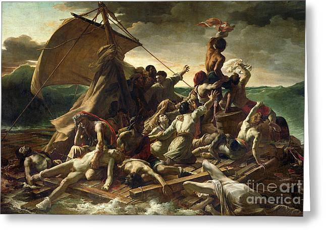 Rope Greeting Cards - The Raft of the Medusa Greeting Card by Theodore Gericault