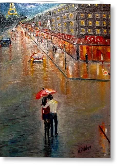 Raining Greeting Cards - The Rain Dance Greeting Card by Politov Valeryi
