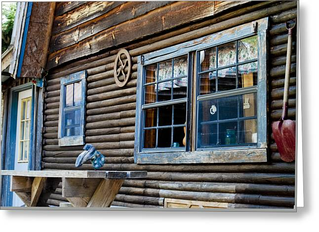 Cabin Window Greeting Cards - The Ranch House Greeting Card by Christi Kraft
