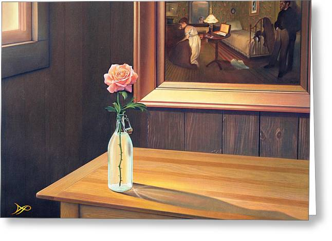 Still Life Pastels Greeting Cards - The Rape Greeting Card by Patrick Anthony Pierson