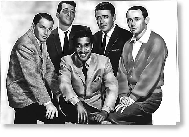 Frank Sinatra Greeting Cards - The Rat Pack Greeting Card by Marvin Blaine