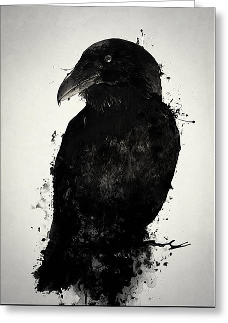 The Raven Greeting Card by Nicklas Gustafsson