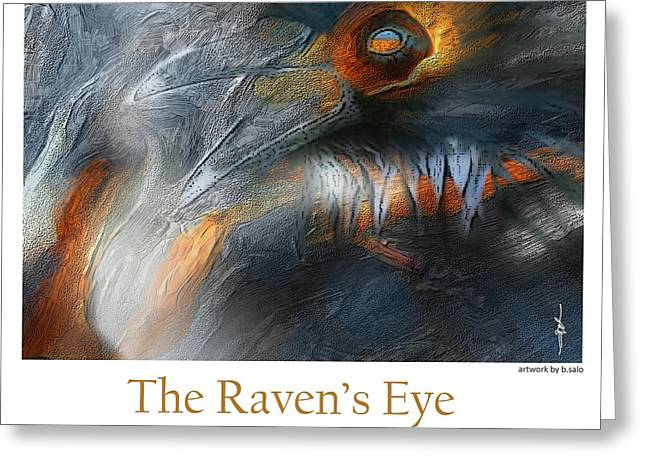 The Raven's Eye Greeting Card by Bob Salo