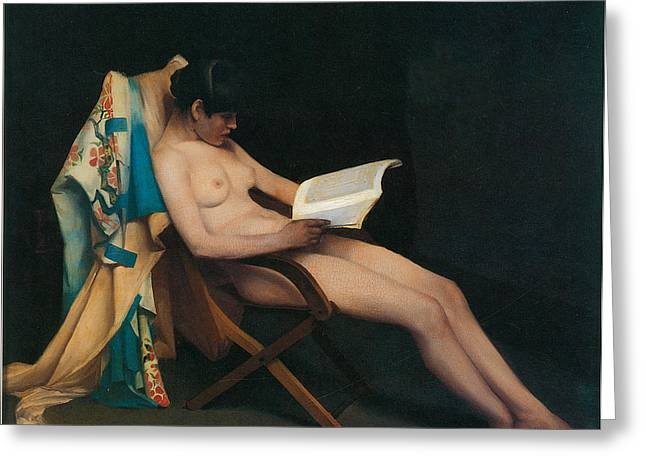 Theodore Greeting Cards - The Reading Girl Greeting Card by Theodore Roussel