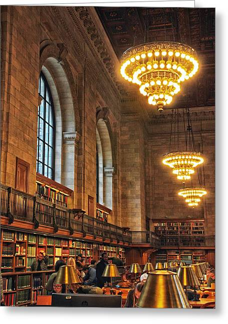 The Reading Room Greeting Card by Jessica Jenney