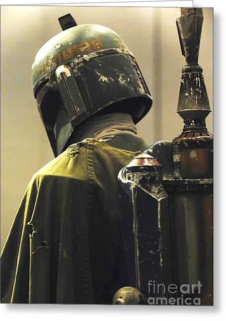 Costume Photographs Greeting Cards - The Real Boba Fett Greeting Card by Micah May
