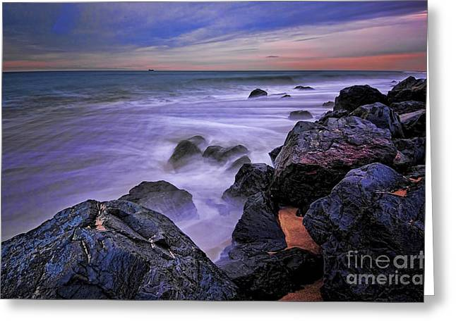 Beachcomber Greeting Cards - The Real Jersey Shore Greeting Card by Paul Ward
