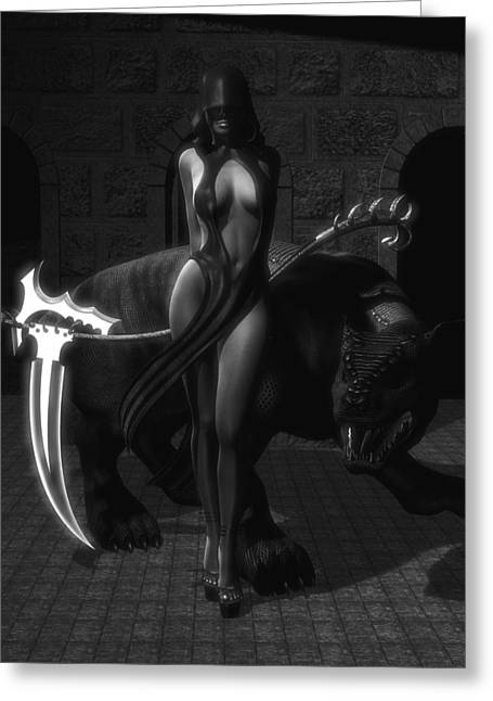 Recently Sold -  - Female Body Greeting Cards - The Reaper Greeting Card by Alexander Butler