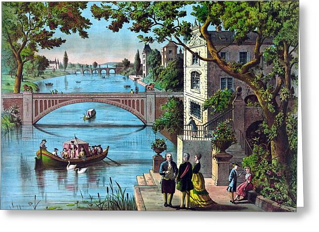Franklin Paintings Greeting Cards - The reception of Benjamin Franklin in France Greeting Card by War Is Hell Store
