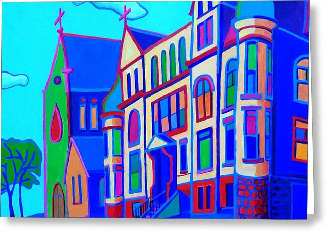 Onion Domes Paintings Greeting Cards - The Rectory Greeting Card by Debra Bretton Robinson