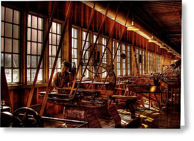 Manufacturing Greeting Cards - The Red Barn of the Boeing Company IV Greeting Card by David Patterson