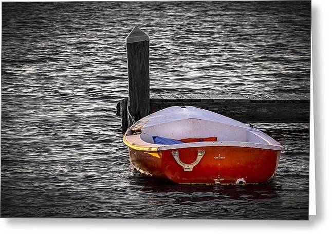 The Red Boat Greeting Card by Marvin Spates