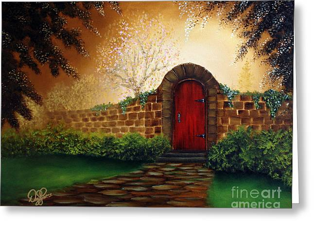 Best Sellers -  - Bob Ross Paintings Greeting Cards - The Red Door Greeting Card by David Kacey