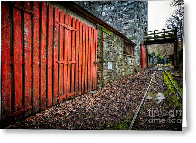 Gauge Greeting Cards - The Red Gate Greeting Card by Adrian Evans