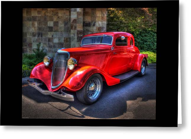 Old Truck Greeting Cards - The Red Ford Greeting Card by Thom Zehrfeld