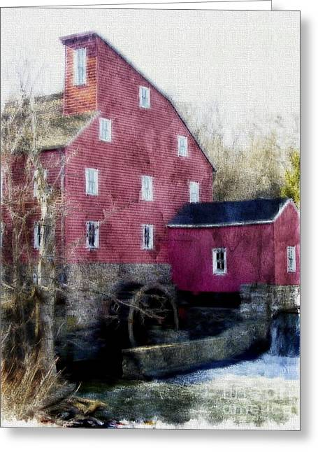 Grist Mill Greeting Cards - The Red Mill Museum Greeting Card by Marcia Lee Jones