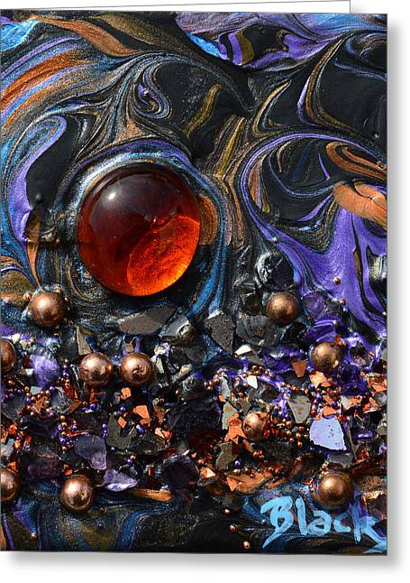 Glass And Metal Art Greeting Cards - The Red Planet Greeting Card by Donna Blackhall