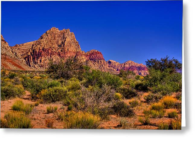 Oxide Greeting Cards - The Red Rock Canyon at Bonnie Springs Ranch Greeting Card by David Patterson