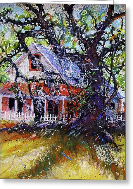 Low Country Cottage Greeting Cards - The Red Store Greeting Card by Gertrude Palmer
