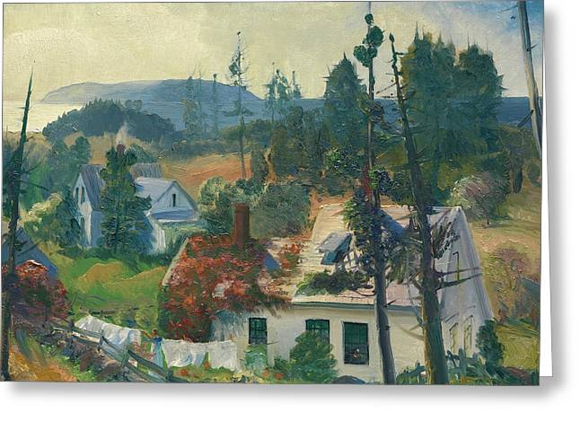 The Red Vine, Matinicus Island, Maine Greeting Card by George Bellows