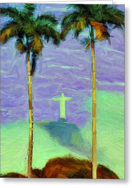 Jesus Christ Pictures Digital Greeting Cards - The Redeemer Greeting Card by Caito Junqueira