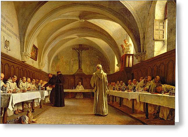 Francois Greeting Cards - The Refectory Greeting Card by Theophile Gide