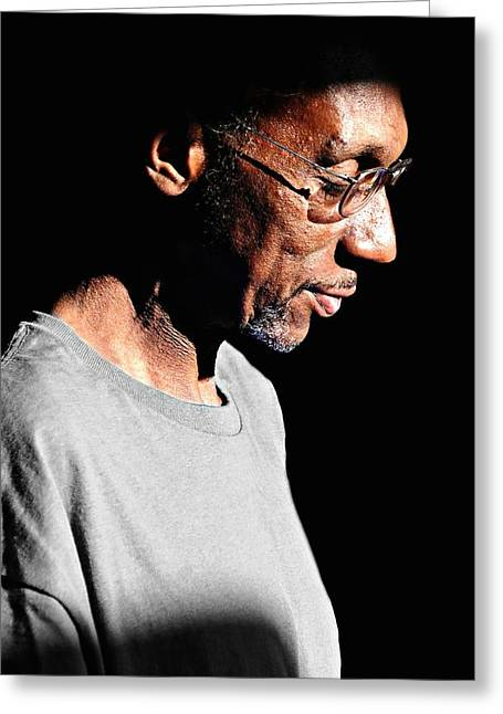 Candid Portraits Greeting Cards - The Reflection Greeting Card by Diana Angstadt