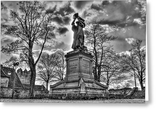 Reformer Digital Art Greeting Cards - The Reformer BW Greeting Card by Michael Damiani