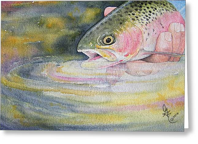 Catch And Release Greeting Cards - The Release Greeting Card by Gale Cochran-Smith