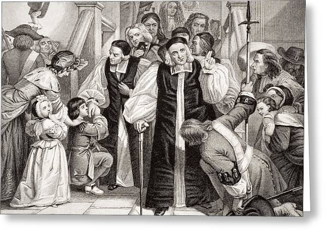 The Release Of The Seven Bishops. After Greeting Card by Vintage Design Pics