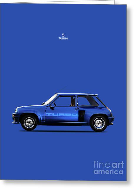 The Renault 5 Turbo Greeting Card by Mark Rogan