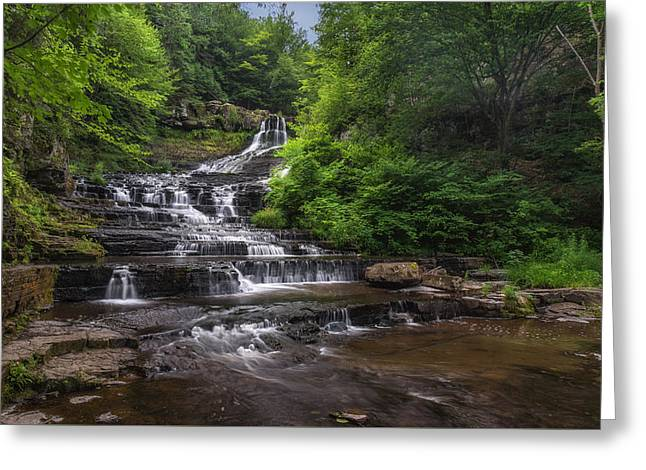 Nature Center Photographs Greeting Cards - The Rensselaerville Falls Greeting Card by Mark Papke