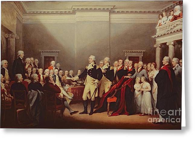 The Resignation Of George Washington Greeting Card by John Trumbull