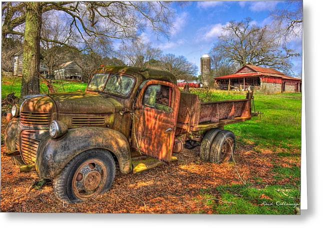 The Resting Place 2 Boswell Farm 1947 Dodge Dump Truck Greeting Card by Reid Callaway