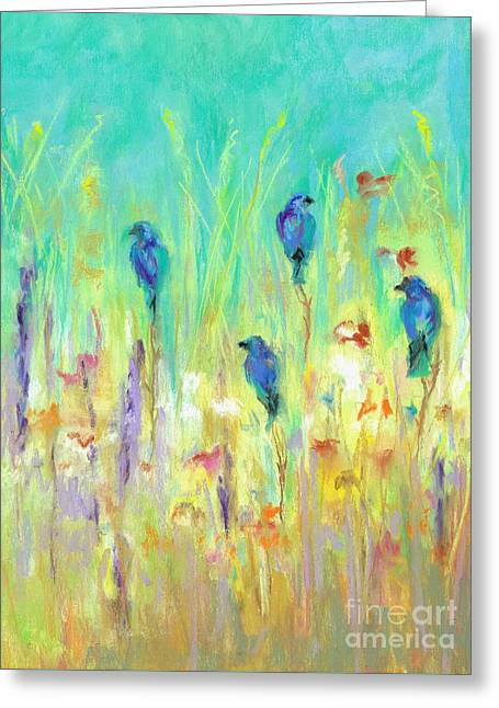 Contemporary Abstract Pastels Greeting Cards - The Resting Place Greeting Card by Frances Marino