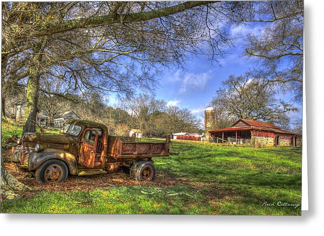 The Resting Place Shadows Greeting Card by Reid Callaway