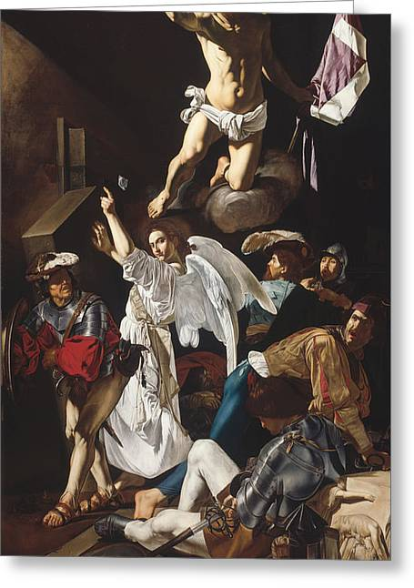 Wonderment Greeting Cards - The Resurrection Greeting Card by Cecco Del Carvaggio