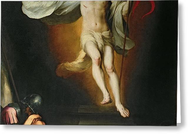 The Resurrection of Christ Greeting Card by Bartolome Esteban Murillo