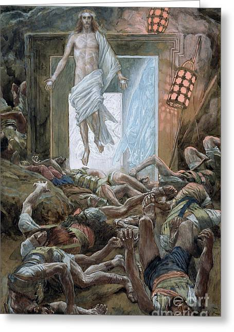 His Light Greeting Cards - The Resurrection Greeting Card by Tissot