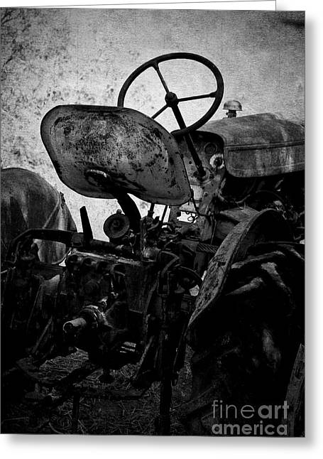 Mechanism Photographs Greeting Cards - The Retired Seat Greeting Card by Clare Bevan