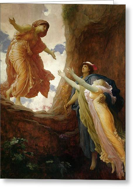 Billowing Greeting Cards - The Return of Persephone Greeting Card by Frederic Leighton
