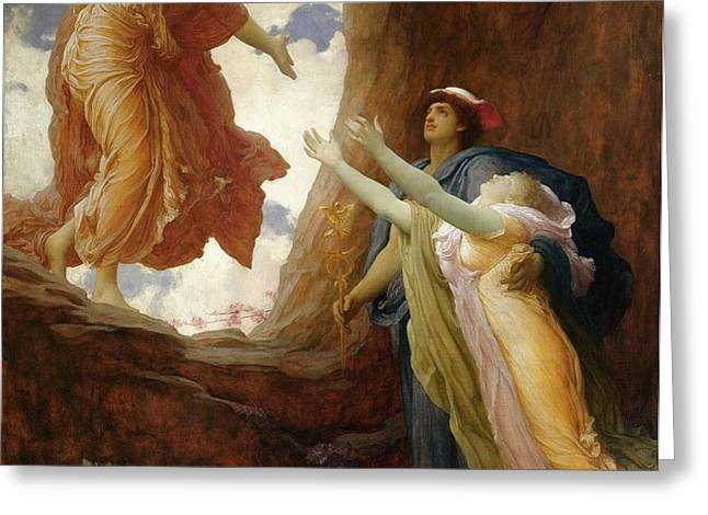 The Return of Persephone Greeting Card by Frederic Leighton