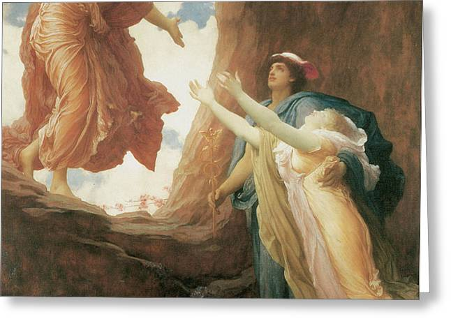 The Return of Persephone Greeting Card by Frederick Leighton