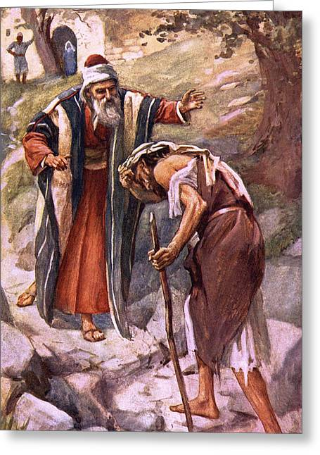 The Return Of The Prodigal Son Greeting Card by Harold Copping